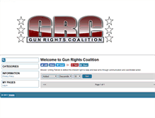 Tablet Preview of gunrightscoalition.org